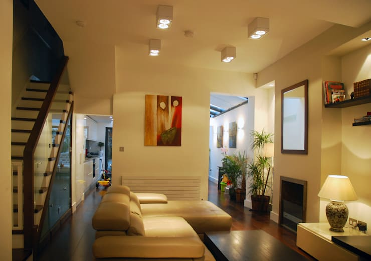 Clapham - Ground Floor Rear Extension and Interior Remodelling:   by Arc 3 Architects & Chartered Surveyors