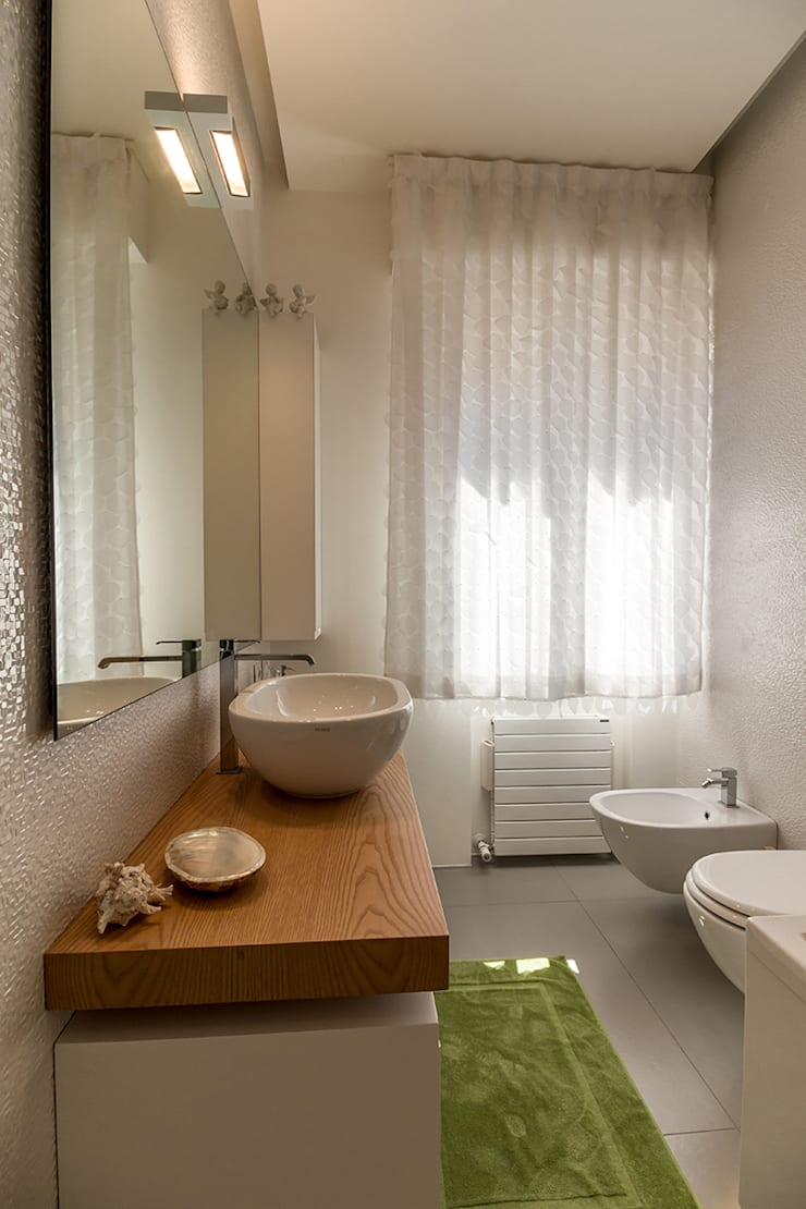 Badezimmer von Bartolucci Architetti, Modern Holz Holznachbildung