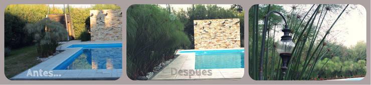 Piscinas de estilo  por LAS MARIAS casa & jardin, Moderno