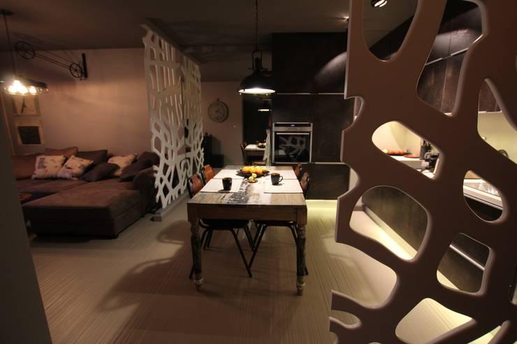 Jadalnia: styl , w kategorii Jadalnia zaprojektowany przez projektowanie wnętrz,Industrialny