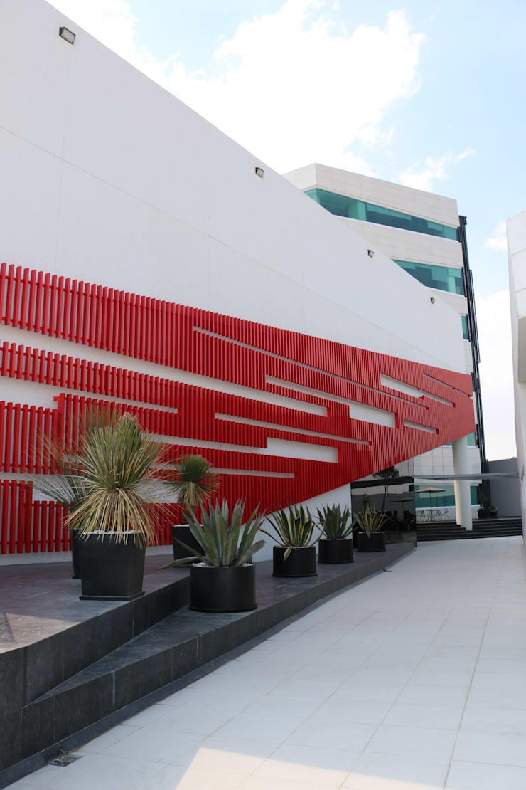 CASA DEL SERVIDOR PÚBLICO MEXIQUENSE: Casas de estilo  por AR+D arquitectos