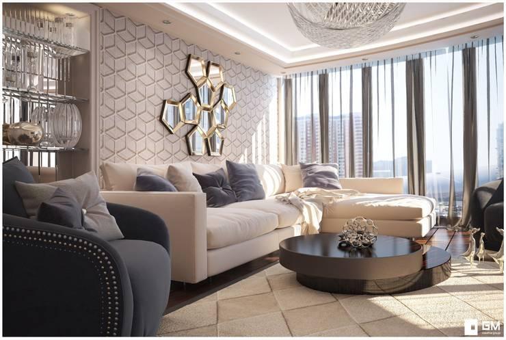 Квартира Art Deco: Гостиная в . Автор – GM-interior