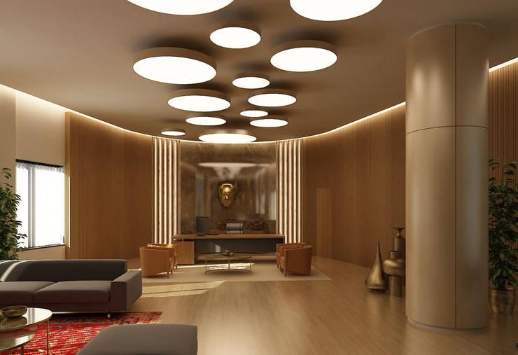 Tekeli-Sisa Mimarlık Ortaklığı – Ofis Tasarımı / Majidi Mall Süleymaniye:  tarz Ofis Alanları, Modern