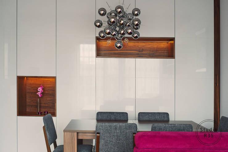 Grochów: styl , w kategorii Salon zaprojektowany przez Studio R35,Nowoczesny