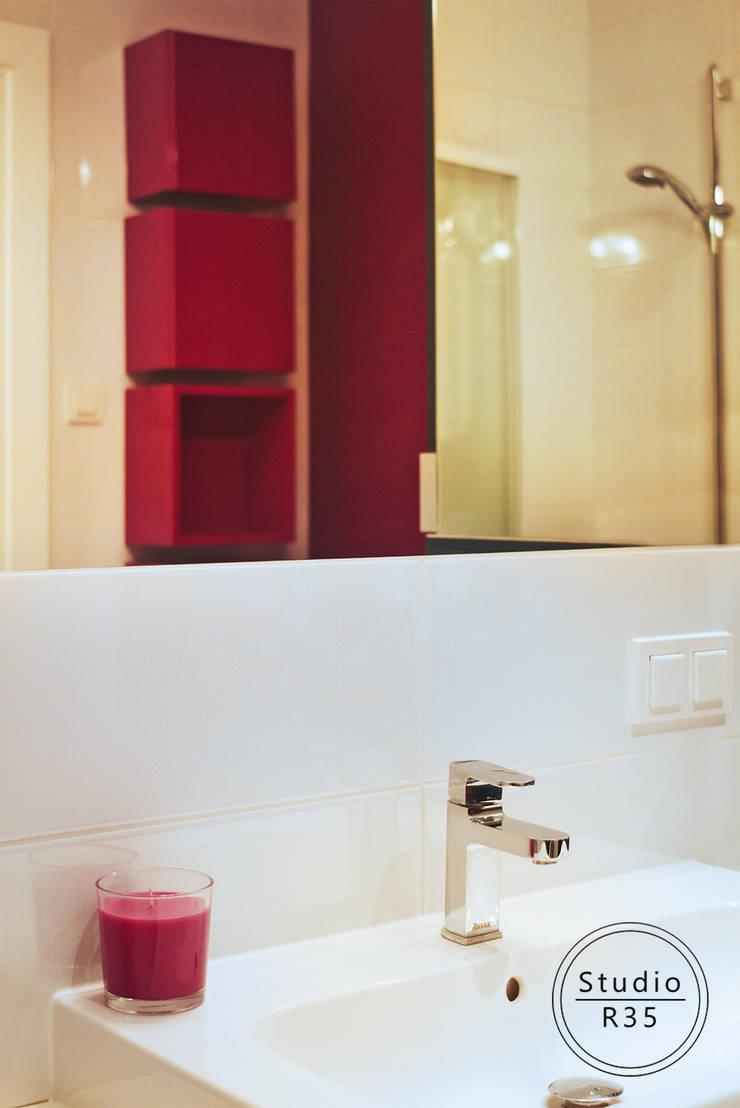 Grochów: styl , w kategorii Łazienka zaprojektowany przez Studio R35,Nowoczesny