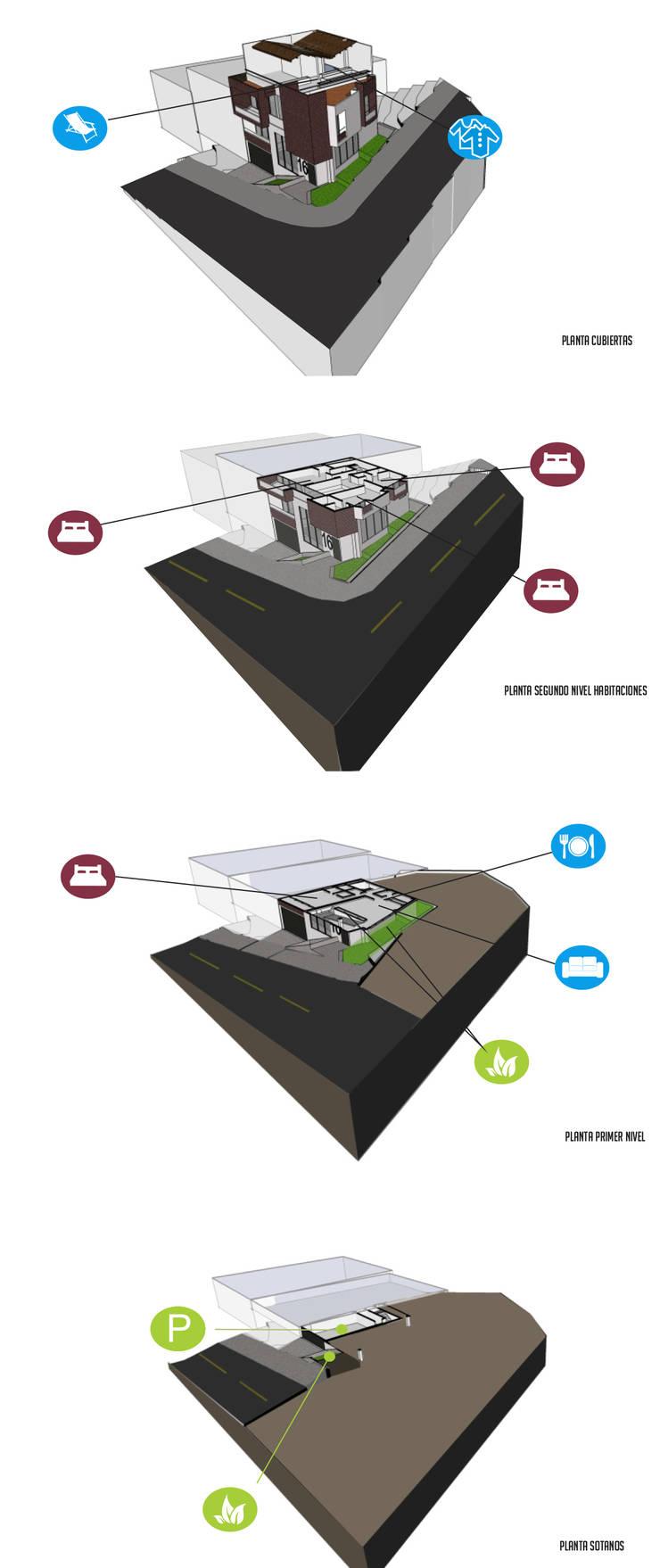 Programa arquitectónico: Casas de estilo  por Le.tengo Arquitectos