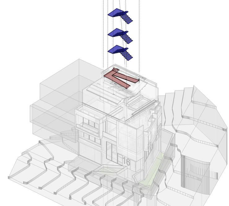 Circulaciones verticales: Casas de estilo  por Le.tengo Arquitectos