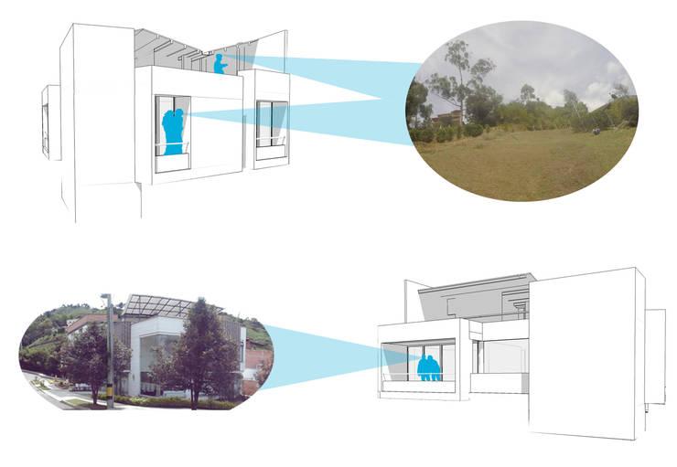 Contacto con el exterior: Casas de estilo  por Le.tengo Arquitectos