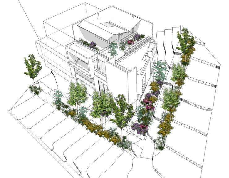 Vegetación y jardinería: Casas de estilo  por Le.tengo Arquitectos