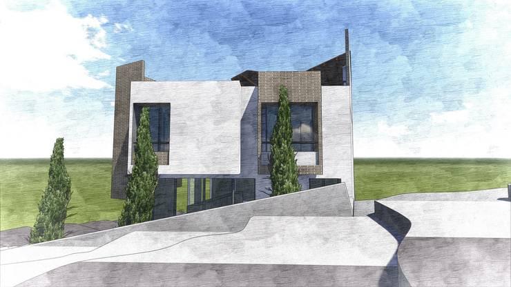 Ilustración general 2 Casas modernas de Le.tengo Arquitectos Moderno