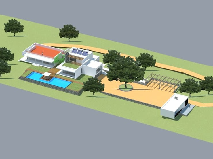 Quinta  das Azinheiras –  Turismo Rural: Casas  por Carlos Fazenda, arquitectos