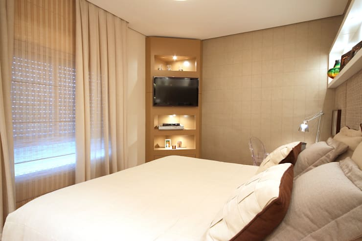 غرفة نوم تنفيذ MeyerCortez arquitetura & design