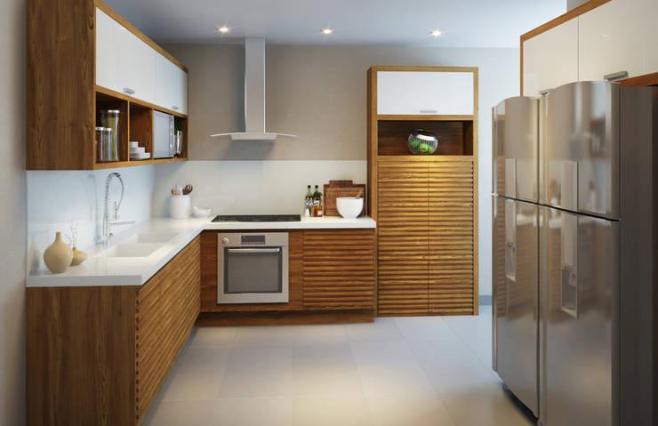 Depois - Cozinha:   por Adriana Leal Interiores