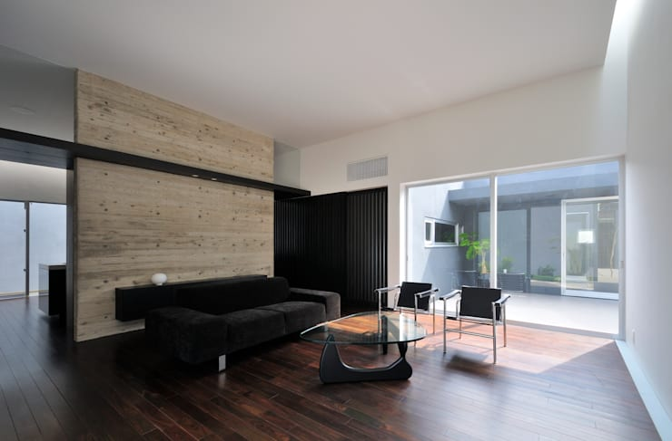 Projekty,  Salon zaprojektowane przez 株式会社クレールアーキラボ