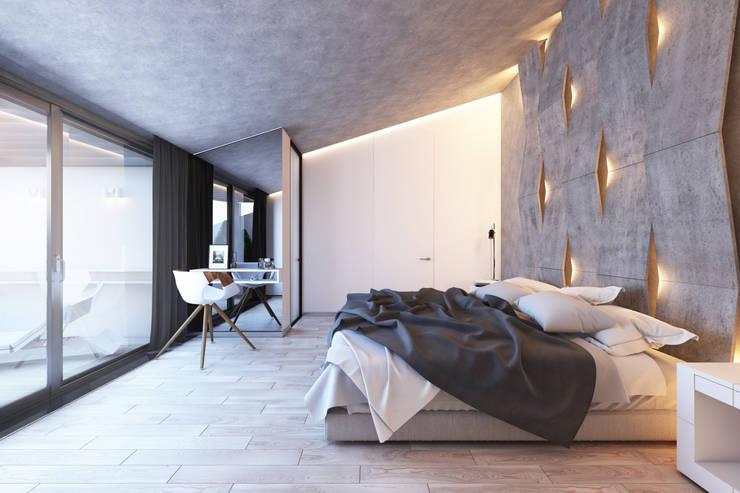 Projekty,  Sypialnia zaprojektowane przez BURO'82