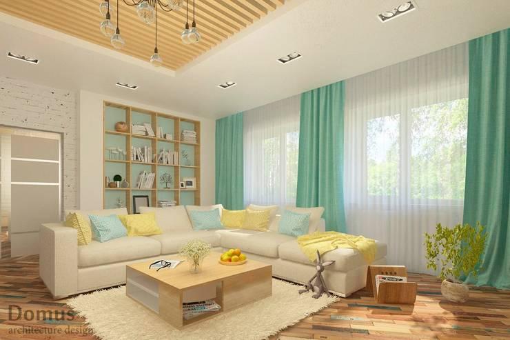 Экологичность в гостиной: Гостиная в . Автор – Белый Эскиз