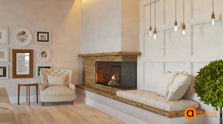 industrial Living room by Art-i-Chok
