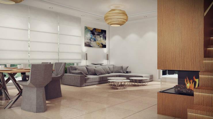 Dom, pow. 210 m2, Chwaszczyno: styl , w kategorii Salon zaprojektowany przez 3miasto design