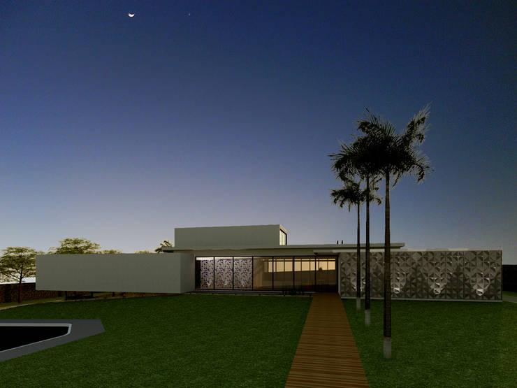 Fachada - Casa - Park Way - Brasília/DF: Casas  por Arquitetura do Brasil