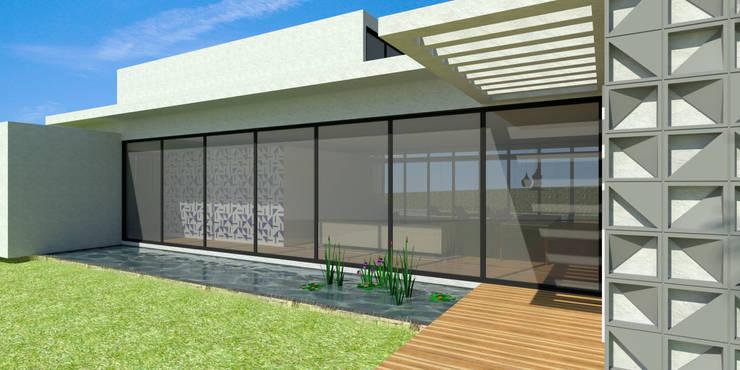 Fachada - Casa - Park Way - Brasília/DF: Casas  por Arquitetura do Brasil,