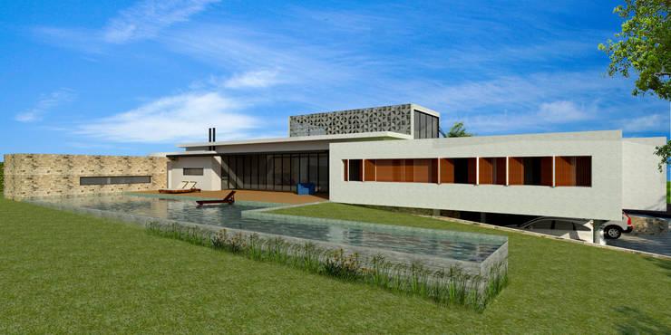 Piscina - Casa - Park Way - Brasília/DF: Piscinas  por Arquitetura do Brasil