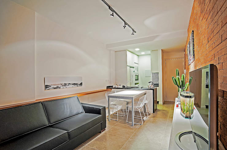 Apartamento LB: Salas de estar  por Studio Boscardin.Corsi Arquitetura,