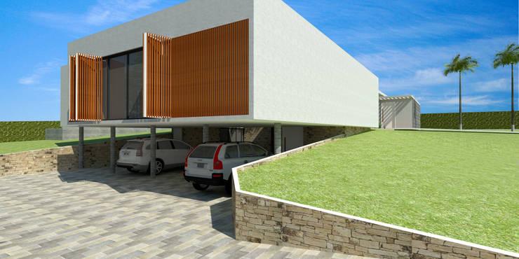 Garagem - Casa - Park Way - Brasília/DF: Garagens e edículas  por Arquitetura do Brasil,