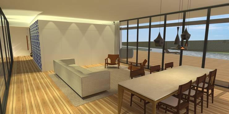Sala da Estar - Casa - Park Way - Brasília/DF: Salas de estar  por Arquitetura do Brasil,