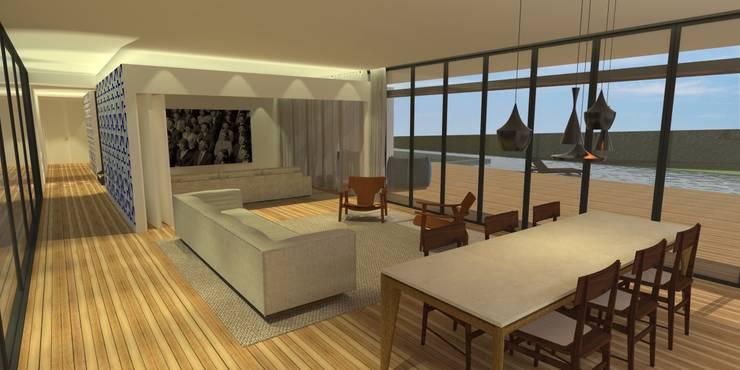 Sala da Estar - Casa - Park Way - Brasília/DF: Salas de estar  por Arquitetura do Brasil