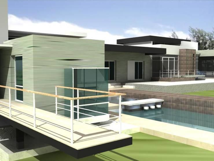 PROYECTO CASA DR. LUCERO:  de estilo  por M.i. arquitectura & construcción