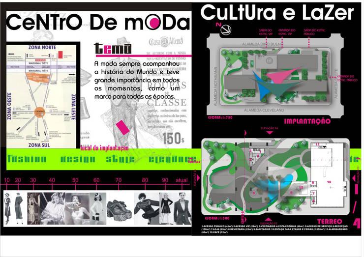 Planta baixa - andar Térreo - Paisagismo - Centro de Moda, Cultura e Lazer - São Paulo - Brasil:   por Arquitetura Ecológica,