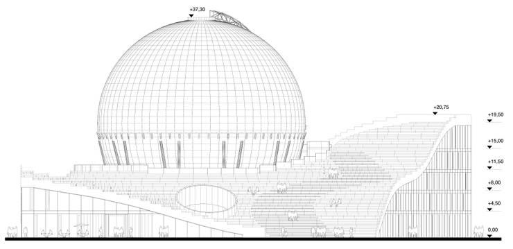 """Учебно-исследовательский центр HHN """"Газгольдер"""":  в . Автор – db-arch studio"""