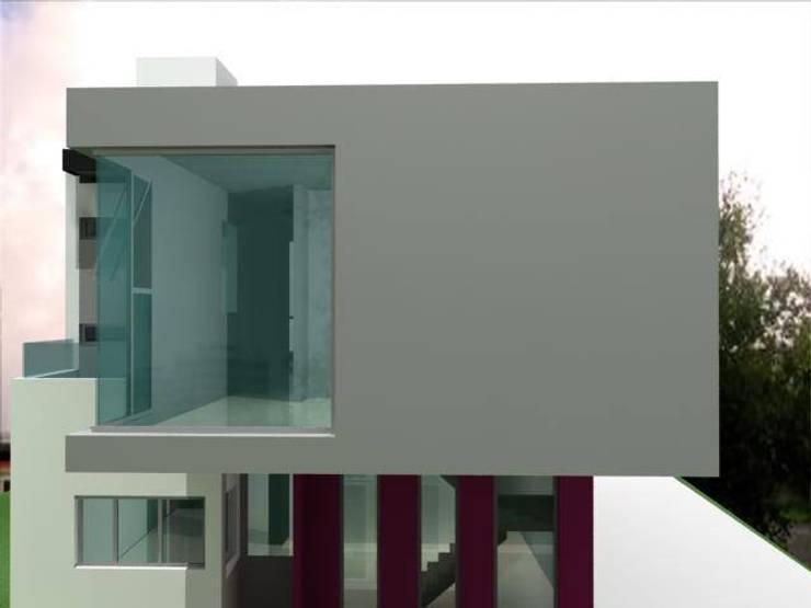 PROYECTO S. MARCELLINI PARA P.R.O.C.R.E.A.R.: Casas unifamiliares de estilo  por M.i. arquitectura & construcción