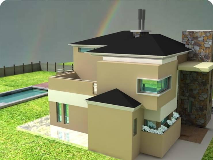 NUEVOS PROYECTOS: CASA UCCI-G. PROYECTO COMPLETO:  de estilo  por M.i. arquitectura & construcción