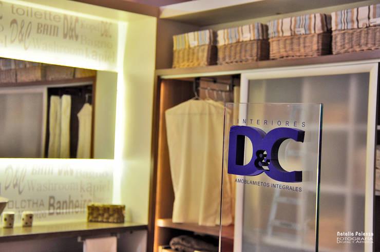 Antebaño y Vestidor Contemporáneos: Vestidores de estilo  por D&C Interiores