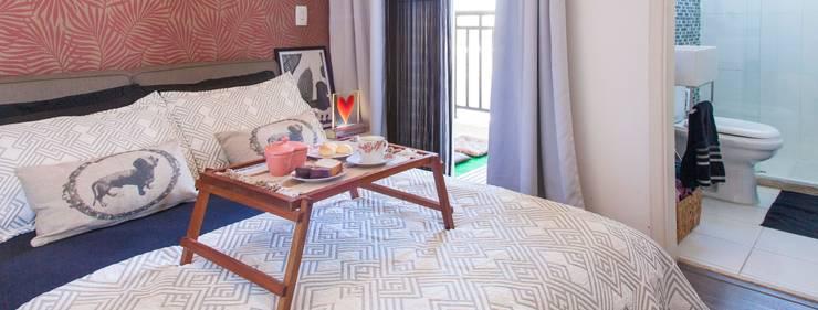 Apartamento Single - São Paulo - Brasil: Quartos  por Dunder Koch Arquitetura