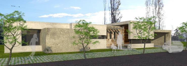 fachada frontal: Casas de estilo  por modulo cinco arquitectura