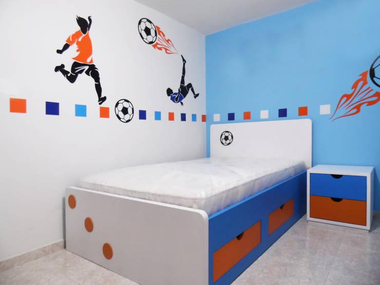 Habitación Juvenil: Dormitorios de estilo  por Fiordana Diseño Interior