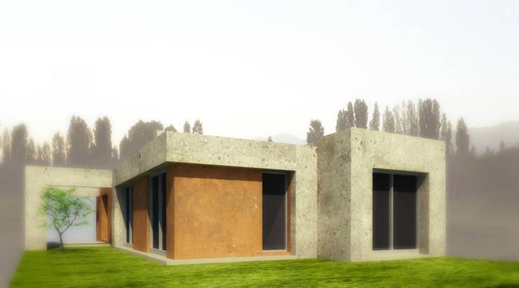 fachada: Casas de estilo  por modulo cinco arquitectura,Moderno Hormigón