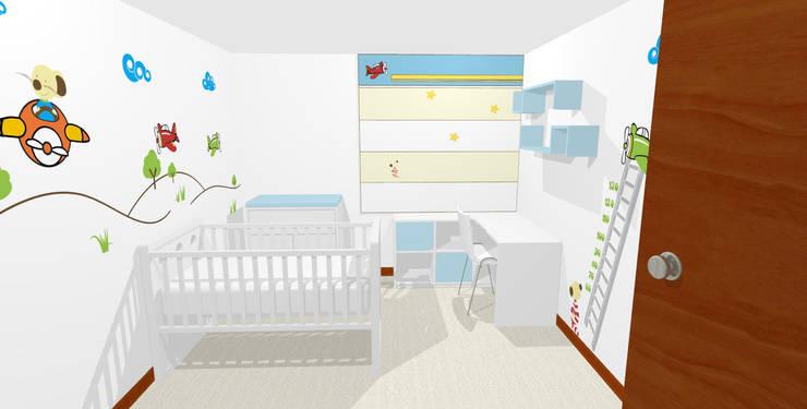 Propuesta 3D:  de estilo  por Fiordana Diseño Interior, Moderno