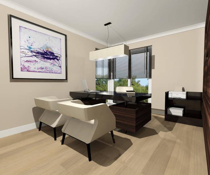 Biuro: styl , w kategorii Salon zaprojektowany przez Denika ,