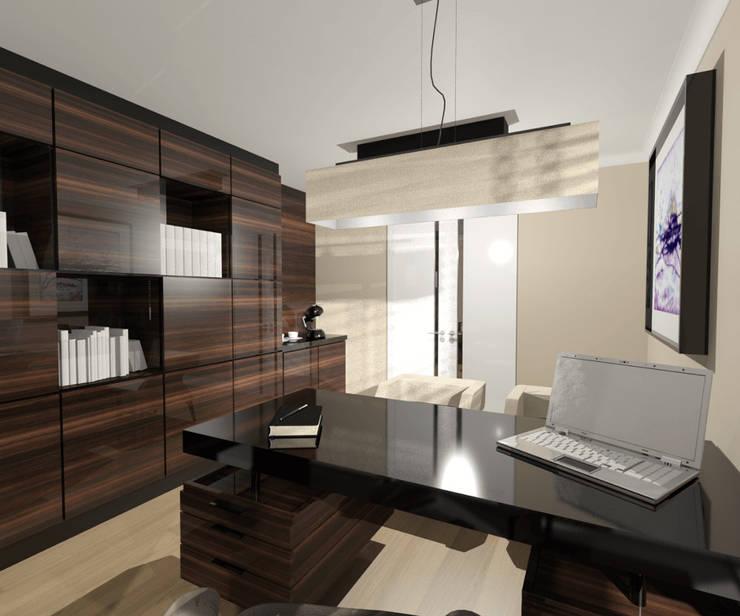 Biuro: styl , w kategorii Domowe biuro i gabinet zaprojektowany przez Denika ,