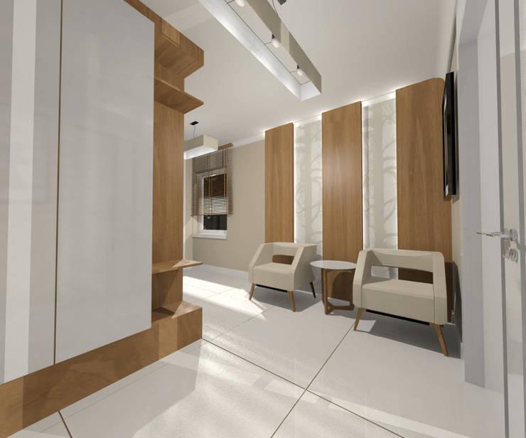 Poczekalnia: styl , w kategorii Domowe biuro i gabinet zaprojektowany przez Denika ,