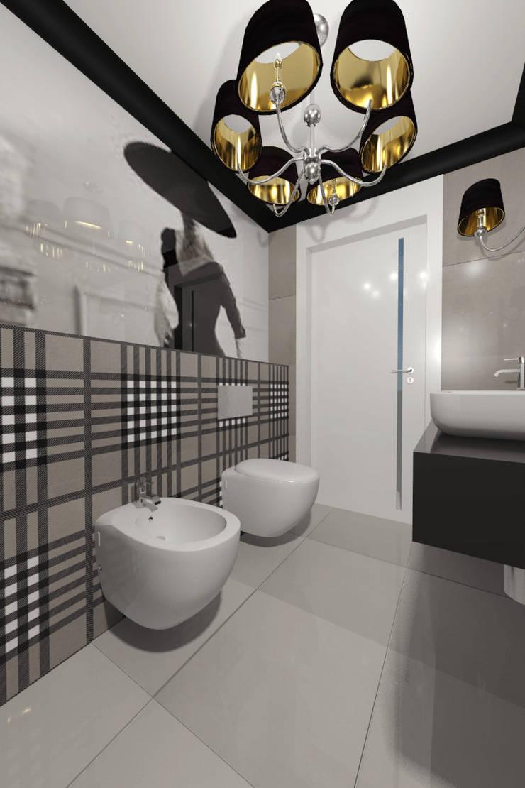 Toaleta dla domowników: styl , w kategorii Łazienka zaprojektowany przez Denika ,