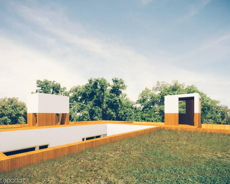 Casa em Lavre: Casas  por Tapada arquitectos