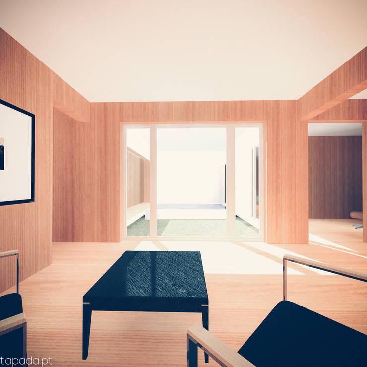Casa em Lavre: Salas de estar  por Tapada arquitectos