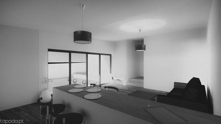 Casa no Pinhal do General: Cozinhas  por Tapada arquitectos