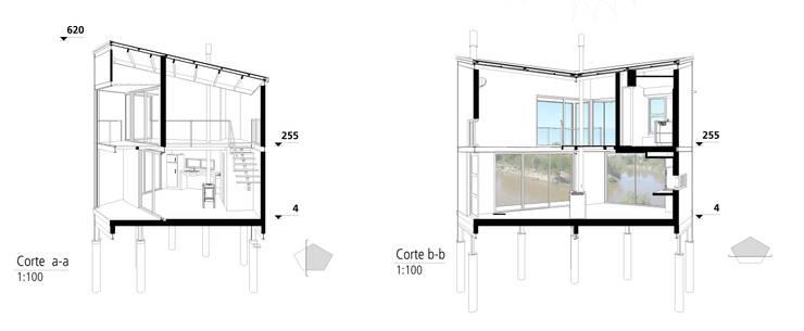 Casa Aity:  de estilo  por Arcubo arquitectos