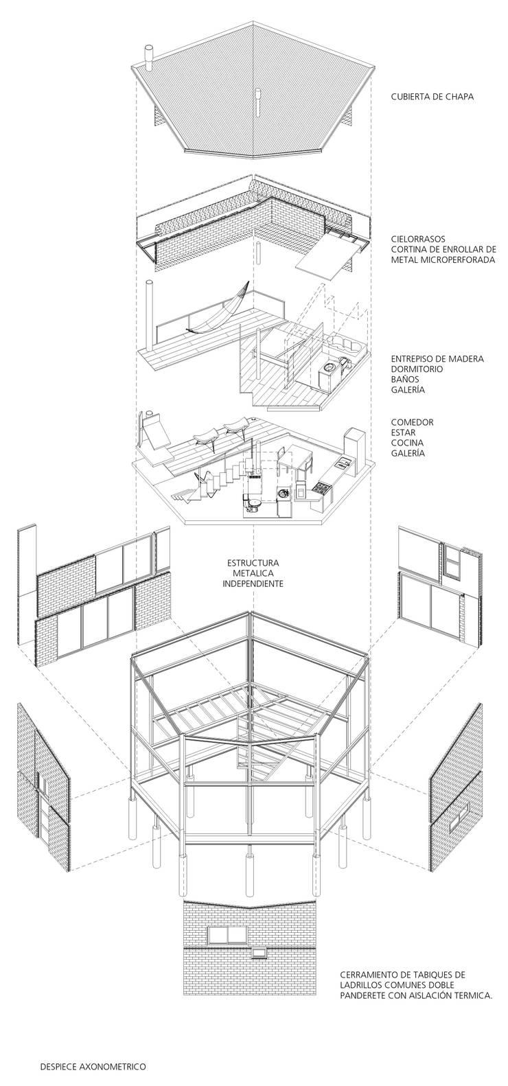 Casa Aity de Arcubo arquitectos Rústico