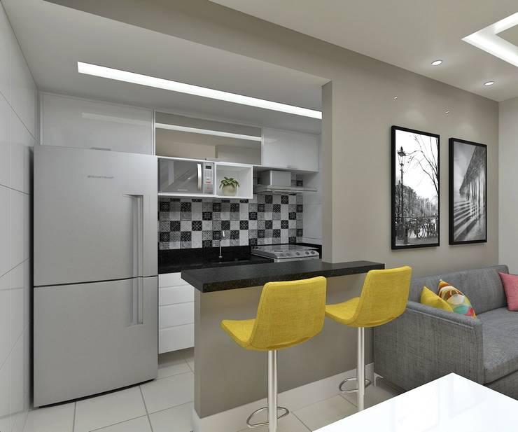 Cozinha: Cozinhas  por Marcos Assmar Arquitetura | Paisagismo,Moderno